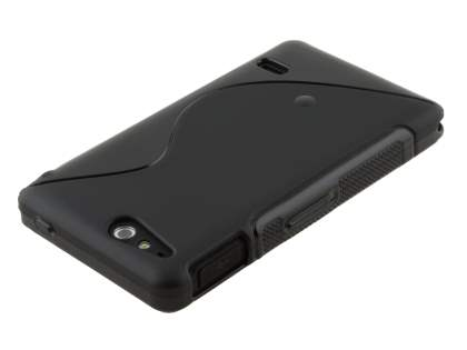 Wave Case for Sony Xperia go ST27i - Frosted Black/Black