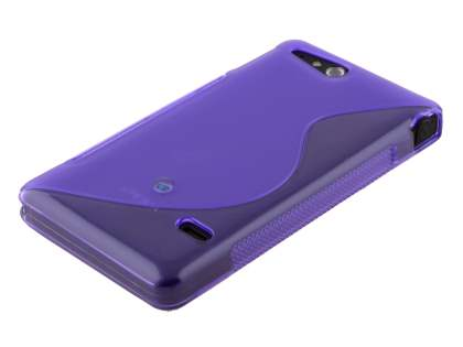 Wave Case for Sony Xperia go ST27i - Frosted Purple/Purple
