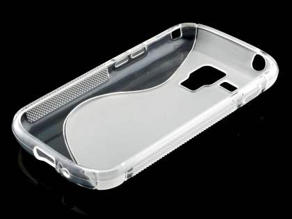 Wave Case for Samsung Galaxy Trend Plus S7583T/S Duos S7562 - Frosted Clear/Clear