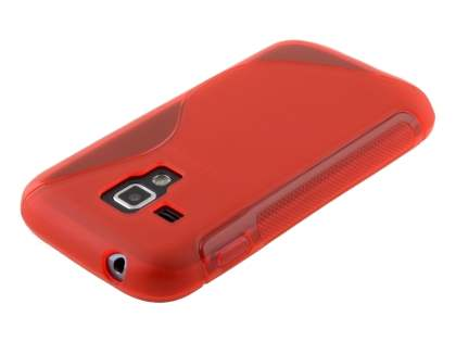 Samsung Galaxy Trend Plus S7583T / S Duos S7562 Wave Case - Frosted Red/Red