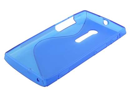 Sony Xperia ion LT28i Wave Case - Frosted Blue/Blue