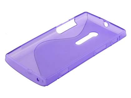 Wave Case for Sony Xperia ion LT28i - Frosted Purple/Purple