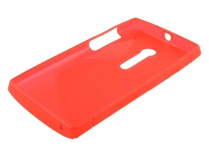 Sony Xperia ion LT28i Wave Case - Frosted Red/Red
