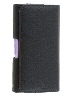 Textured Synthetic Leather Belt Pouch (Bumper Case Compatible) for Motorola DEFY XT535