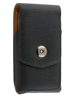 Textured Synthetic Leather Vertical Belt Pouch for Motorola