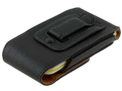 Textured Synthetic Leather Vertical Belt Pouch for Motorola DEFY XT535