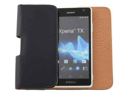 Smooth Synthetic Leather Belt Pouch for Sony Xperia TX LT29i
