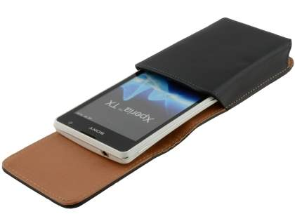 Smooth Synthetic Leather Vertical Belt Pouch for Sony Xperia TX LT29i