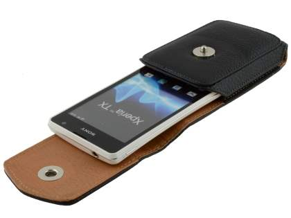 Textured Synthetic Leather Vertical Belt Pouch for Sony Xperia TX LT29i