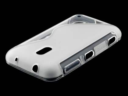 Nokia Lumia 620 Wave Case - Frosted Clear/Clear