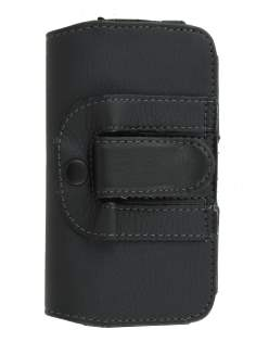 Nokia Lumia 620 Synthetic Leather Belt Pouch - Classic Black