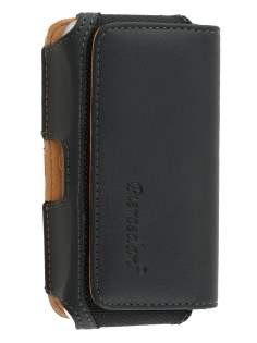 iPhone 4/4S Synthetic Leather Belt Pouch - Classic Black