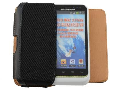 Motorola DEFY XT535 Synthetic Leather Belt Pouch - Classic Black