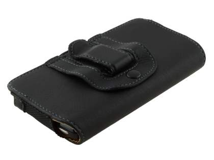 Motorola RAZR V XT885/MT887 Synthetic Leather Belt Pouch - Classic Black