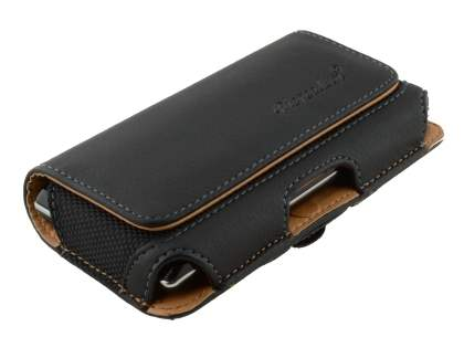 Sony Xperia J ST26i Synthetic Leather Belt Pouch - Classic Black