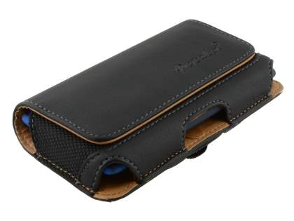 HTC Windows Phone 8S Synthetic Leather Belt Pouch - Classic Black