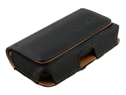 Samsung Galaxy W I8150 Synthetic Leather Belt Pouch - Classic Black