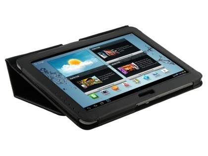 Samsung Galaxy Tab 2 10.1 Synthetic Leather Flip Case with Fold-Back Stand - Classic Black