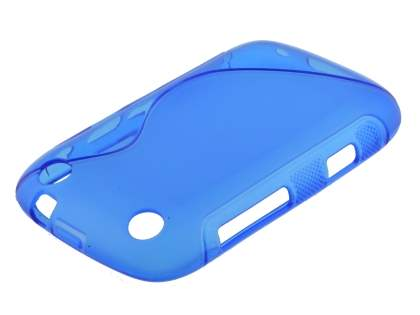 Wave Case for BlackBerry Curve 9320 - Frosted Ocean Blue/Ocean Blue Soft Cover