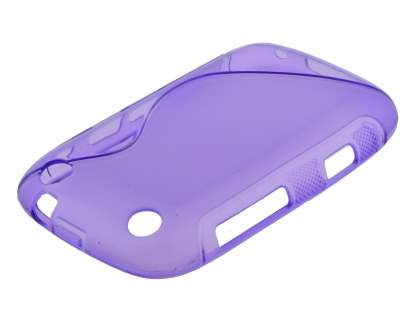 Wave Case for BlackBerry Curve 9320 - Frosted Purple/Purple Soft Cover