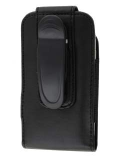 Samsung Galaxy Y S5360T Synthetic Leather Belt Pouch (Naked Phone Only) - Classic Black Belt Pouch