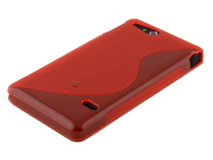 Sony Xperia go ST27i Wave Case - Frosted Red/Red