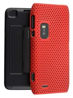 Mesh Back Case for Nokia E7 - Red Hard Case