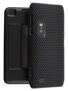 Mesh Back Case for Nokia E7 - Classic Black Hard Case
