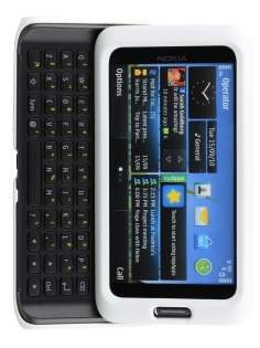 UltraTough Rubberised Slim Case for Nokia E7 - Pearl White Hard Case