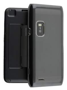 Dual-Design Case for Nokia E7 - Black/Frosted Grey Dual-Design Case