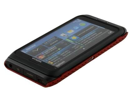 Mesh Back Case for Nokia E7 - Red