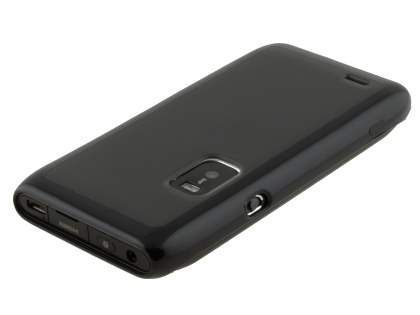 Dual-Design Case for Nokia E7 - Black/Frosted Grey
