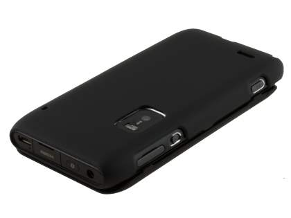 Nokia E7 UltraTough Rubberised Slim Case - Classic Black