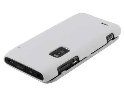 Nokia E7 UltraTough Rubberised Slim Case - Pearl White