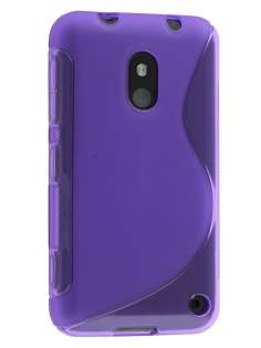 Wave Case for Nokia Lumia 620 - Frosted Purple/Purple Soft Cover