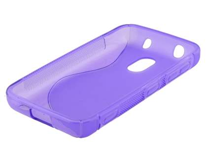 Nokia Lumia 620 Wave Case - Frosted Purple/Purple