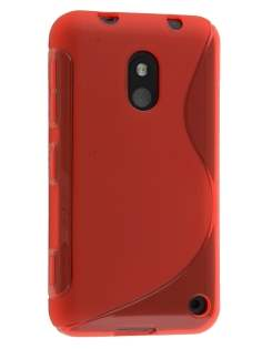 Wave Case for Nokia Lumia 620 - Frosted Red/Red Soft Cover