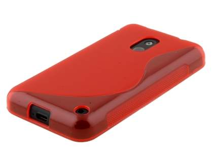 Wave Case for Nokia Lumia 620 - Frosted Red/Red