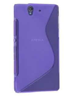 Wave Case for Sony Xperia Z - Frosted Purple/Purple Soft Cover