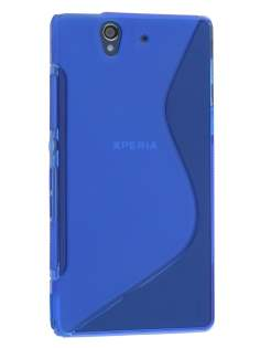 Wave Case for Sony Xperia Z - Frosted Blue/Blue Soft Cover