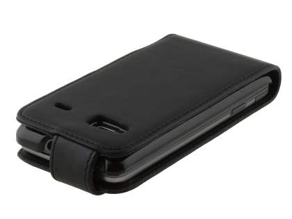 Synthetic Leather Flip Case for HTC Desire Z - Black