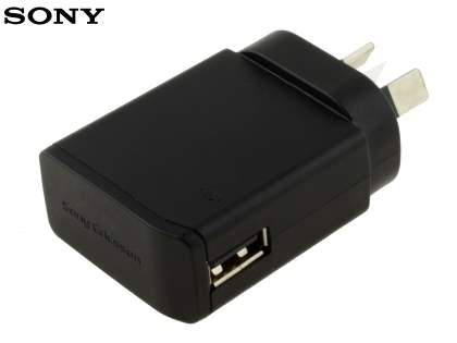 Genuine Sony Wall Power Adapter with USB Port - Classic Black