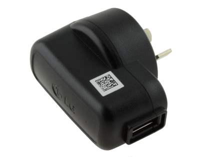 Genuine LG Wall Power Adapter with USB Port - Classic Black