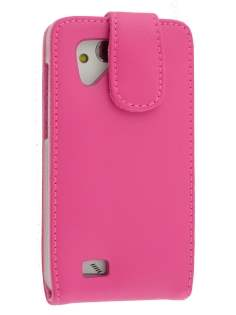 HTC Desire VC Genuine Leather Flip Case - Pink