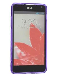 LG Optimus G E975 Wave Case - Frosted Purple/Purple