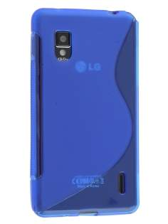 Wave Case for LG Optimus G E975 - Frosted Blue/Blue