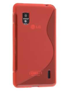 Wave Case for LG Optimus G E975 - Frosted Red/Red Soft Cover