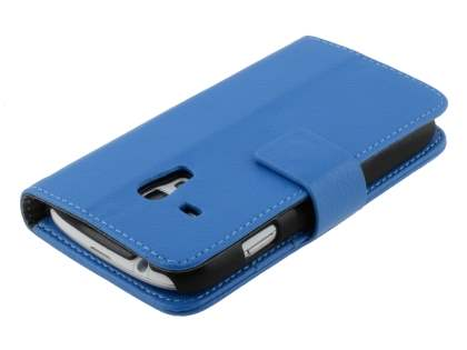 Synthetic Leather Wallet Case with Stand for Samsung I8190 Galaxy S3 mini - Blue