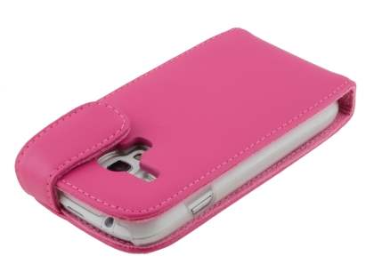 Genuine Leather Flip Case for Samsung I8190 Galaxy S3 mini - Pink