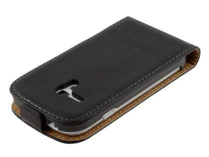 Samsung I8190 Galaxy S3 mini Slim Synthetic Leather Flip Case - Classic Black